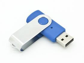 16GB USB-флэш накопитель Apexto U201 раскладной синий 072c c белым клипом OEM
