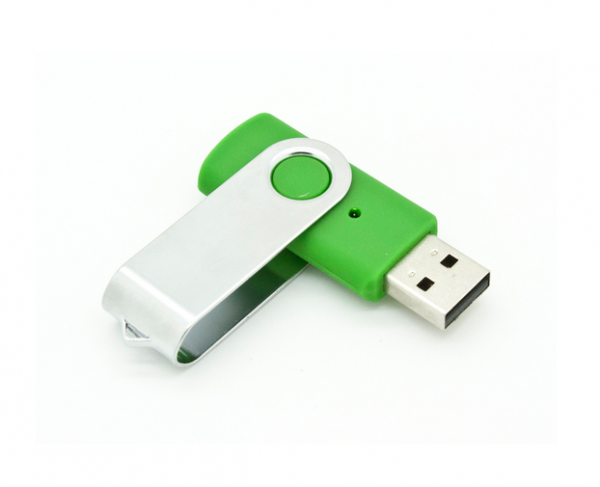4GB USB-флэш накопитель Apexto U201 раскладной зеленый белый клип OEM