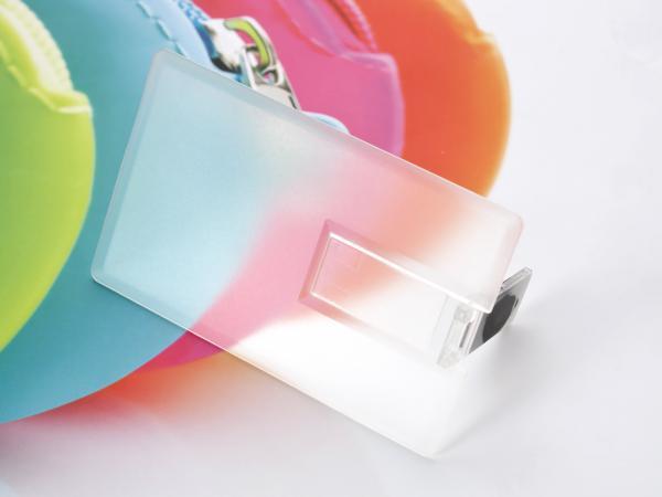 2GB USB-флэш накопитель Apexto U504EPM кредитная карточка прозрачная матовая