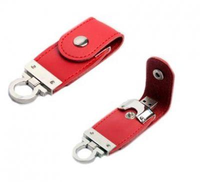 8GB USB-флэш накопитель Apexto U503O красный кожаный браслет