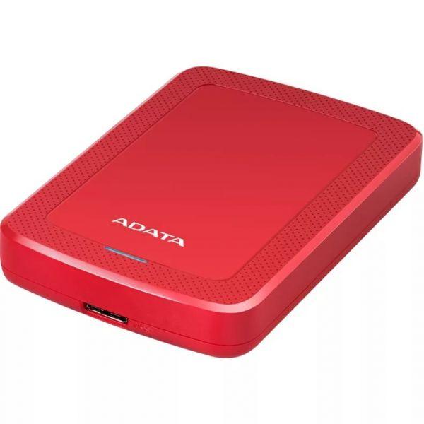 4TB внешний жесткий диск ADATA HV300  USB3.1 толщина 19мм красный пластик