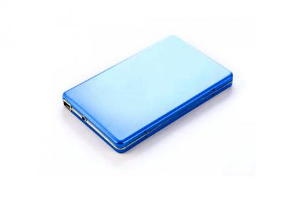500GB внешний HD USB 2.0 Алюминиевый кейс U003M, SATA 2,5'' Синий