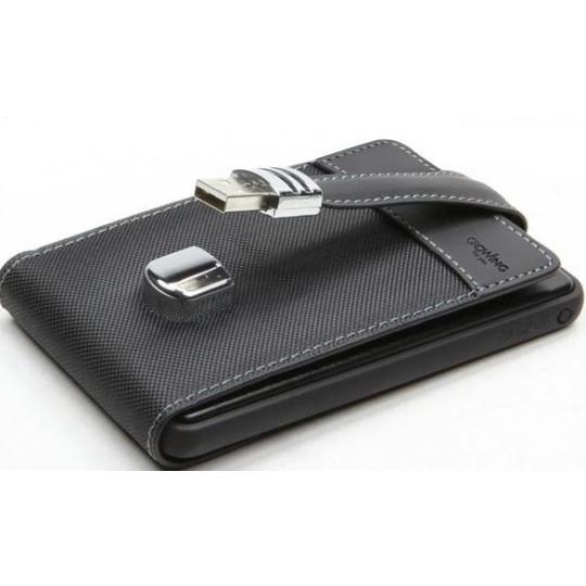 500GB внешний HD USB 2.0 кожаный кейс U005P, SATA 2,5'' Черный