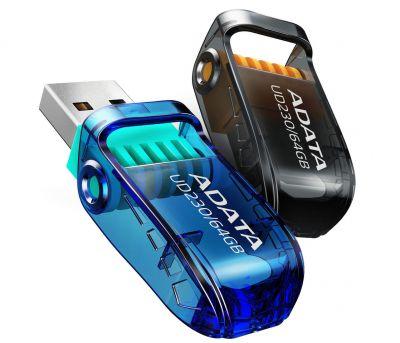 64GB USB 2.0 флэш накопитель  ADATA UD230  поворотная синяя