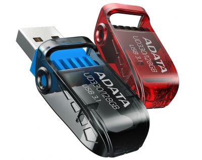 64GB USB 3.0 флэш накопитель  ADATA UD330  поворотная красная