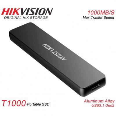 512GB Внешний USB3.1 Type-C накопитель E-SSD T1000 Hikvision (1000MB/s) 3г/гар
