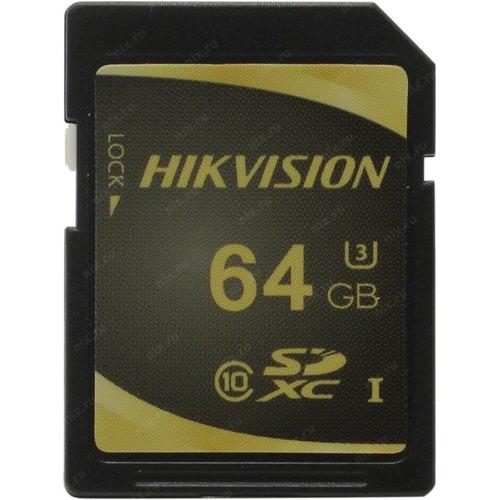 64GB Карта памяти Hikvision SDXC Class10 U1 д/видеонаблюдения eTLC R/W 100/50 MB/s 3000 циклов