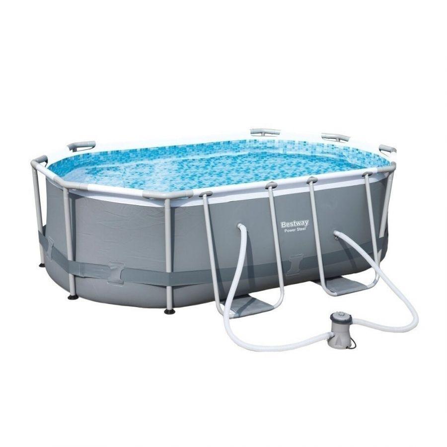 Овальный каркасный бассейн BESТWAY POWER STEEL 56617