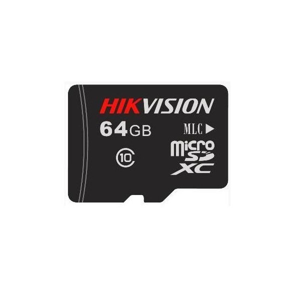 64GB Карта памяти MicroSDXC Hikvision P1 д/видеонаблюдения Class 10 UHS-I V30 eTLC 3000 циклов
