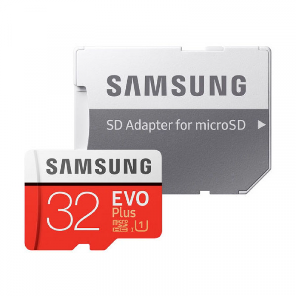 32GB Карта памяти MicroSDHC Samsung EVO Plus v2 UHS-I U1 + SD Adapter (R95/W20Mb/s) (MB-MC32GA/RU)