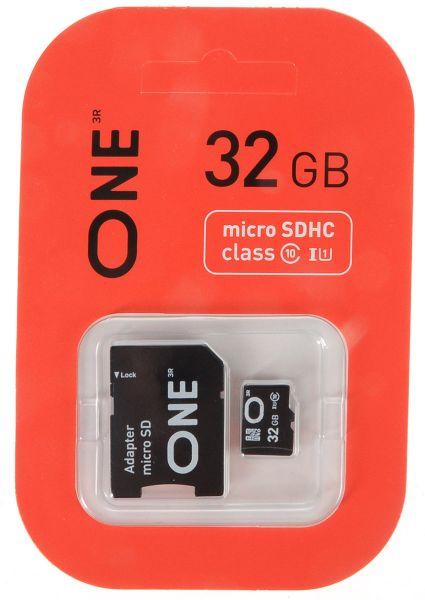 32GB карта памяти ONE MicroSDHC UHS-I Class 10  15/10 MB/s без адаптера