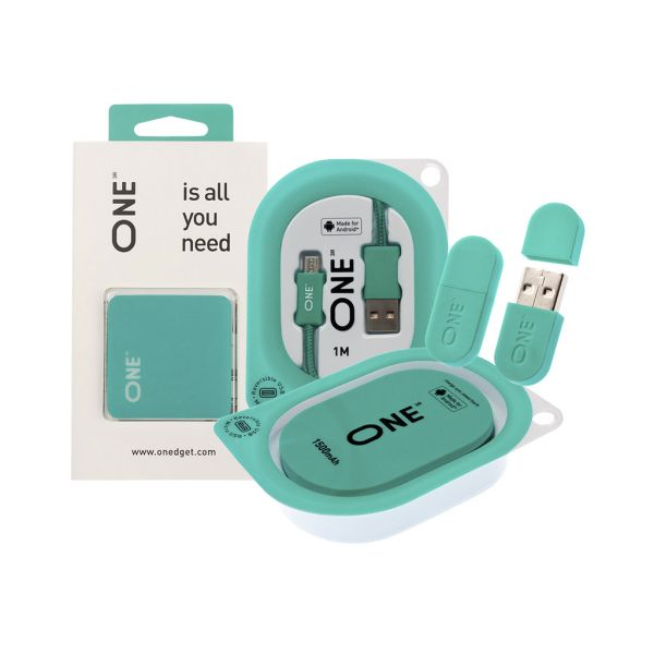 Набор ONE бирюзового цвета для автомобиля Android+Apple