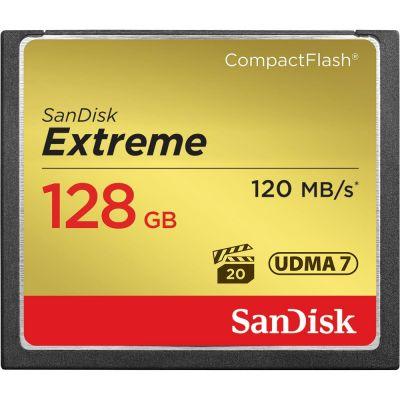 128GB карта памяти Sandisk Extreme CF 120MB/s, write 85MB/s, VPG 20