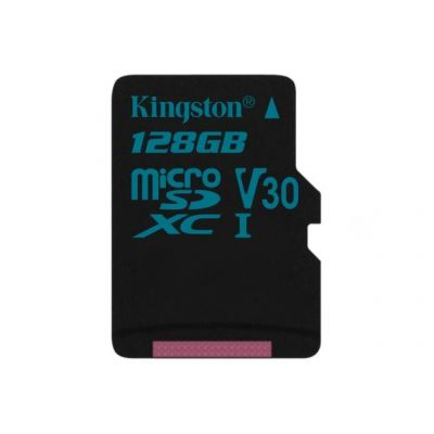 128GB Карта памяти MicroSDXC/Transflash Class10 UHS-I V30 U3 Canvas Go! Kingston без адаптера
