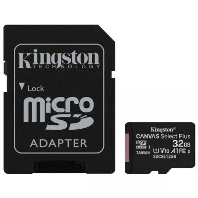 32GB Карта памяти MicroSDXC Class10 UHS-I A1  Canvas Select Plus Kingston (до 100MB/s)