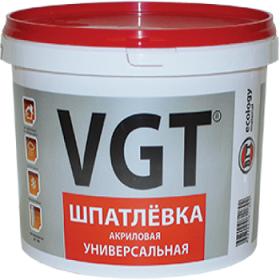 Шпатлевка Универсальная VGT 1.7кг до 7мм Акриловая для Внутренних и Наружных Работ / ВГТ Универсальная