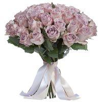 Букет из лавандовых роз 60см