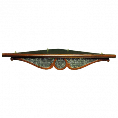 Угловая полка для икон с басмой