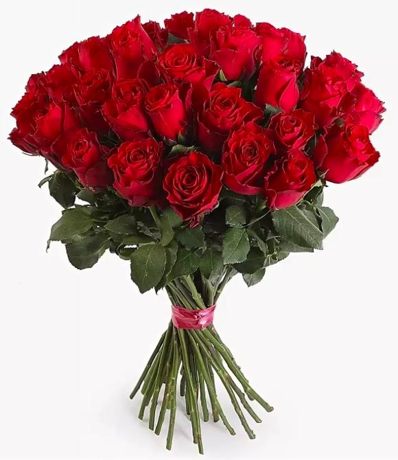 Букет из красных российских роз от 19 шт