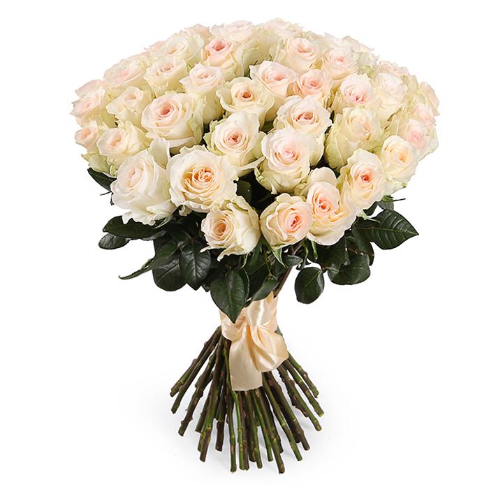 Букет из кремовых роз 60см