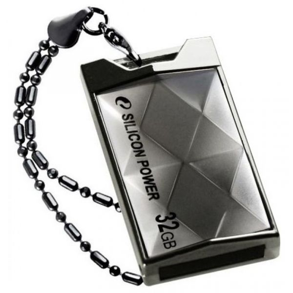 2GB USB-флэш накопитель Silicon Power Touch 850 цвет титан
