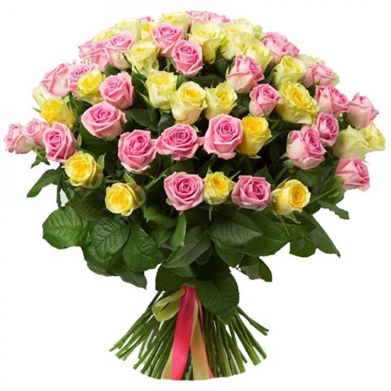 Букет из розы микс 60см