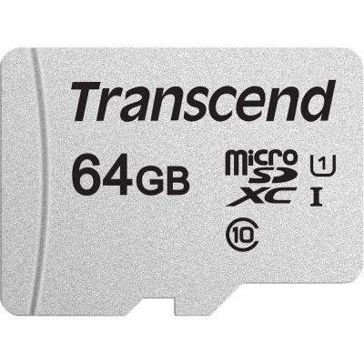 64GB Карта памяти MicroSDXC Class10 UHS-I Transcend 300X