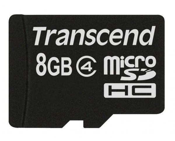 8GB Карта памяти MicroSDHC Class4 Transcend без адаптера