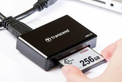 USB3.0 ридер для карт памяти CFAST (CFast 2.0/CFast 1.1/CFast 1.0) Transcend
