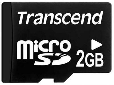 2GB Карта памяти MicroSD Transcend без адаптера