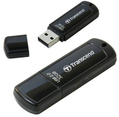 32GB USB-флэш накопитель Transcend Jetflash 350 (черный)