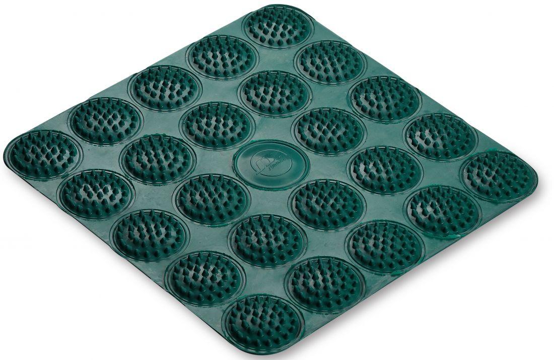Коврик массажный акупунктурный для стоп 35*35 см (резина)