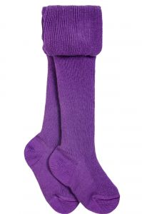 Фиолетовые детские колготки из хлопка 8 Марта