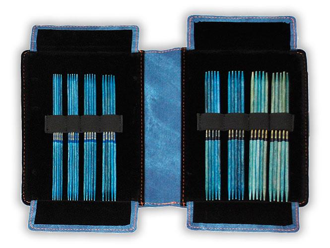 Набор чулочных спиц, длина 15 см, цвет INDIGO LYKKE (LK.44163)