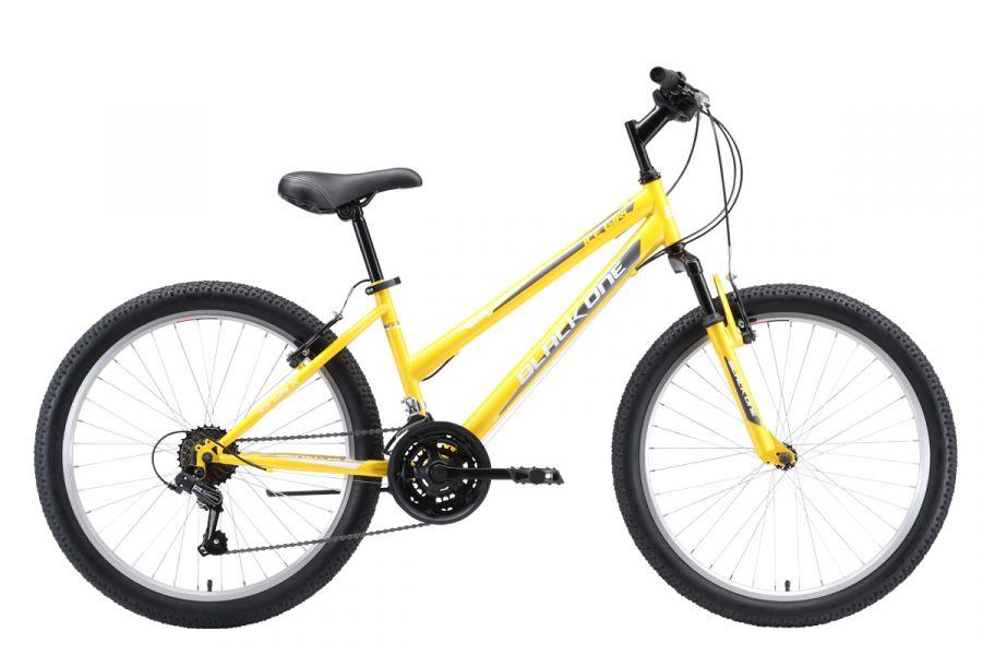 Велосипед BLACK ONE Ice Girl 24 Жёлтый/белый/серый (H000016614)