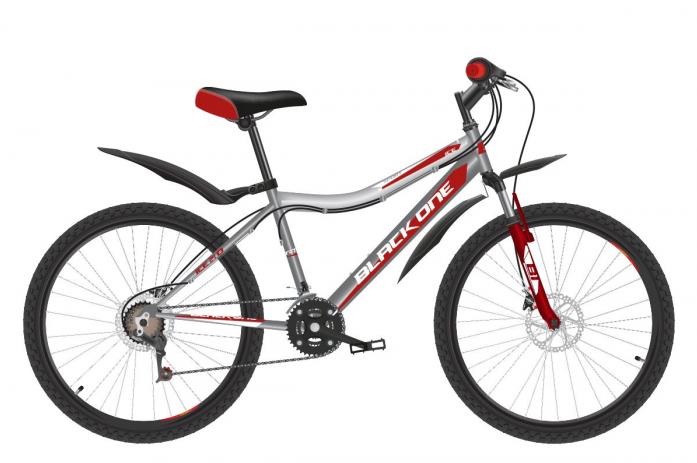 Велосипед BLACK ONE Ice 24 D Серый/красный/белый (H000016600)