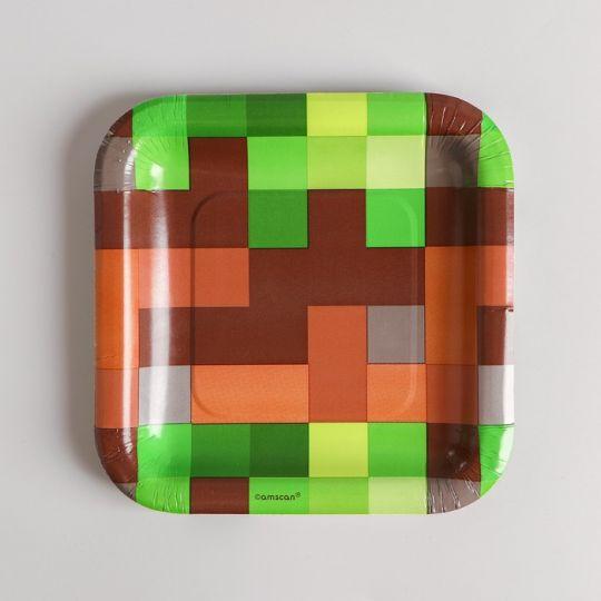 Тарелки Пиксели квадратные