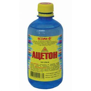 Ацетон Ясхим 0,5 л ПЭТ для растворения природных смол, масел, диацетата целлюлозы