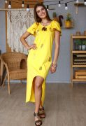 желтое платье из хлопка