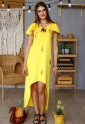 желтый сарафан из хлопка
