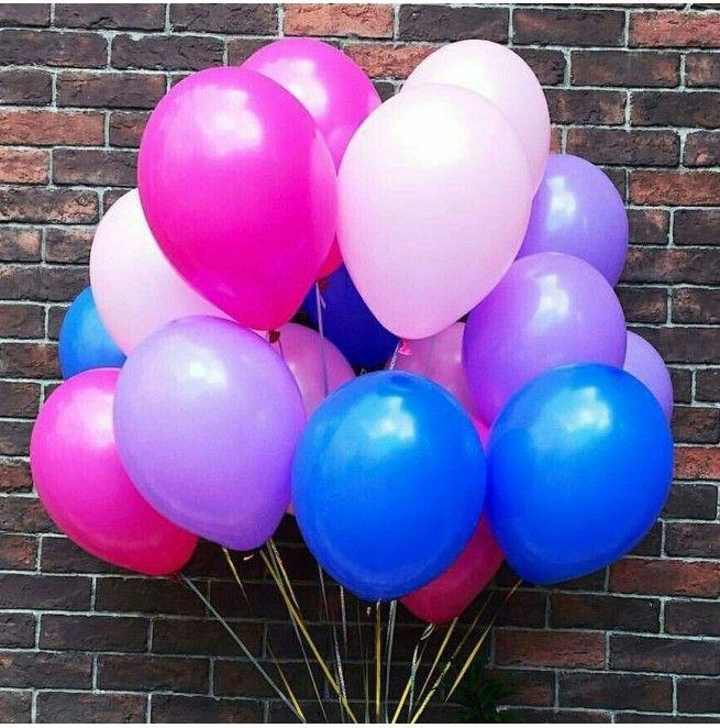 Гелиевые шары (латекс, 12 дюймов (30 см.))