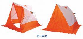 Палатка зимняя  Следопыт  2-скатная бело-оранжевый