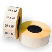Термоэтикетка 30х20 мм ЭКО (1 рулон = 500 шт) втулка 40 мм
