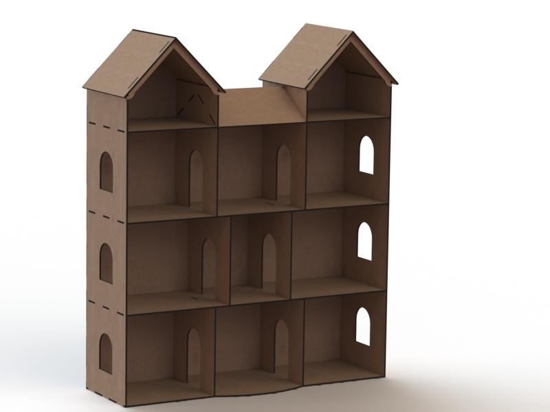 Кукольный дом четырехэтажный