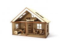 Кукольный дом двухэтажный малый