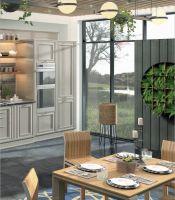 Кухня Комо Олива с колоннами