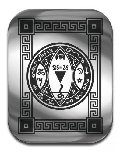 """Магическая карта """"Пентакль, дающий контроль над денежными потоками"""",  сталь с покрытием"""