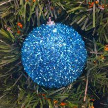 Набор новогодних шаров в мишуре, 6 шт, 5 см