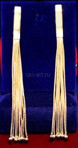 Длинные позолоченные цепочечные серьги (арт. 880123)