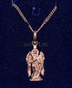 """Позолоченная подвеска """"Ангел"""" с цепочкой (арт. 880126)"""